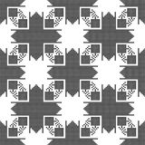Seamless pattern. The cross-stitch. Black and white background. Seamless pattern. The cross-stitch. Yellow, red, green, and black colors. Crafts and Hobbies Stock Images