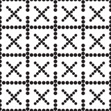 A seamless pattern crosses. Black and white -  illustration Royalty Free Stock Image