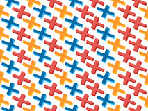 Seamless pattern with crosses, memphis abstract background. Vector Royalty Free Stock Photos