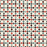 Seamless pattern with crosses motif. Abstract repeated bright squares and rhombuses. Background. Modern mosaic, stained glass wallpaper. Vector illustration Royalty Free Stock Photography