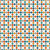 Seamless pattern with crosses motif. Repeated bright rhombuses background. Modern mosaic, stained glass wallpaper. Royalty Free Stock Photos
