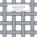 Seamless pattern with crossing lines. Geometric seamless pattern with crossing lines. Yacht style design. Basket texture background. Template for prints Royalty Free Stock Photos