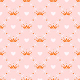 Seamless pattern with crown Royalty Free Stock Photos