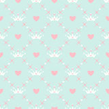 Seamless pattern with crown Royalty Free Stock Photo