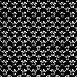 Seamless pattern with crown Stock Photo