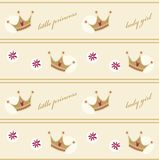 Seamless pattern with crowns Royalty Free Stock Images