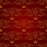 Seamless pattern with crowns Stock Images