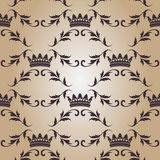 Seamless pattern with crowns Royalty Free Stock Photos