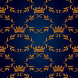 Seamless pattern with crowns Stock Image