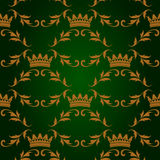 Seamless pattern with crowns Royalty Free Stock Photography