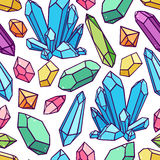 Seamless pattern of crystals Stock Image