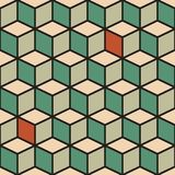 Seamless pattern with cubes in retro color Stock Photo