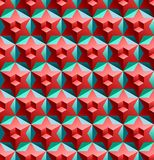 Seamless pattern with cubes and stars Stock Photography