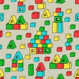 Seamless pattern with cubes. For textiles, interior design, for book design, website background Royalty Free Stock Photos