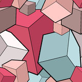 Seamless pattern with cubes Royalty Free Stock Image