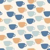 Seamless Pattern. Seamless cup pattern background design Stock Photo