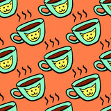 Seamless pattern with a cup. Royalty Free Stock Photography