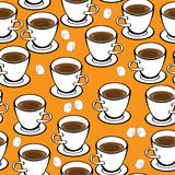 Seamless pattern cup of coffee Stock Photos