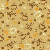 Seamless pattern with cup of coffee in vector Royalty Free Stock Photos