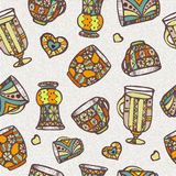 Seamless pattern with cup Stock Photo