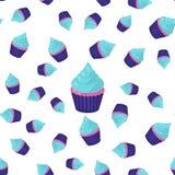 Seamless Pattern Cupcake Royalty Free Stock Photography