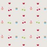 Seamless pattern cupcakes Stock Image