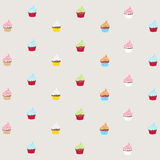 Seamless pattern cupcakes Stock Photography