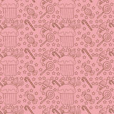 Seamless pattern with cupcakes, candy and ice cream Royalty Free Stock Photo