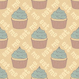 Seamless pattern with cupcakes Royalty Free Stock Photography
