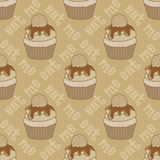 Seamless pattern with cupcakes Royalty Free Stock Photo