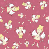 Seamless pattern with Cupid Royalty Free Stock Photo