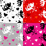 Seamless pattern with cupids. Stock Image