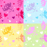 Seamless pattern with cupids. Royalty Free Stock Image