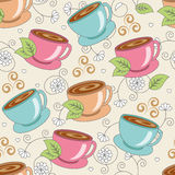 Seamless pattern with cups Stock Photo