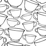 Seamless pattern with cups Royalty Free Stock Photos