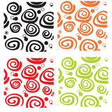 Seamless Pattern Curls Stock Photo