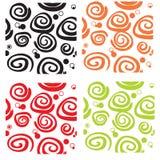 Seamless Pattern Curls Stock Photo