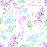 Seamless pattern with curved elegant lines and scrolls Stock Images