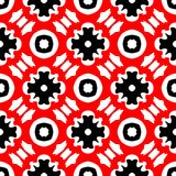 Red and black abstract background. Seamless pattern with curved shapes and white background vector illustration
