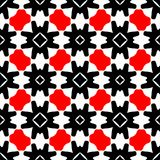 Red and black abstract background. Seamless pattern with curved shapes and white background royalty free illustration