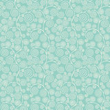Seamless pattern with curvy spirals Stock Photo