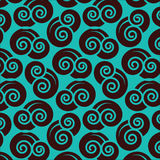 Seamless pattern cut out japanese blue clouds Stock Photos