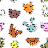 Seamless pattern with cute animals Royalty Free Stock Image