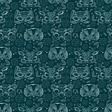 Seamless pattern with cute animal masks Stock Photo