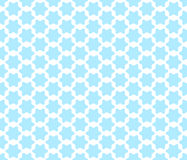 Seamless pattern with cute arabian styled blue stars.  vector illustration