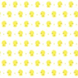 Seamless with cute baby rubber ducks. Seamless pattern with cute baby rubber ducks on white background, design for baby and child, can be used for invitations stock illustration