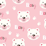 Seamless pattern with cute baby teddy bears Royalty Free Stock Photos