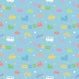 Seamless pattern with cute baby toys. Stock Photos