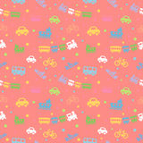 Seamless pattern with cute baby toys. Royalty Free Stock Image
