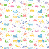 Seamless pattern with cute baby toys. Royalty Free Stock Photography